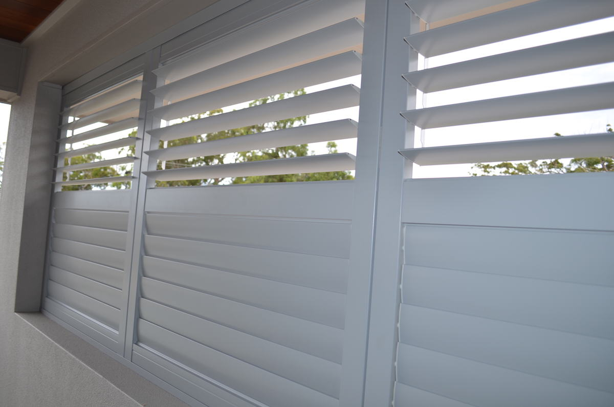 New Aluminium Shutters White